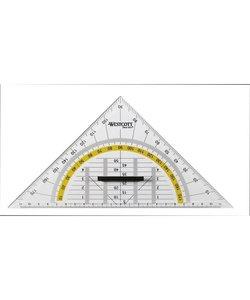 Westcott Geodriehoek  met greep 22cm