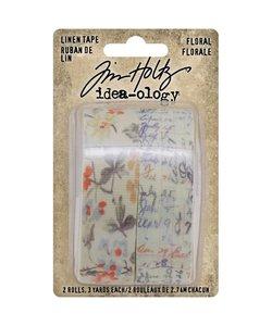 Tim Holtz Idea-Ology Linen tape Floral 2 pcs.