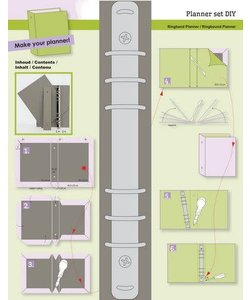 CraftEmotions Ringband Planner DIY  Basis voor A5 Planner (inclusief beschrijving)