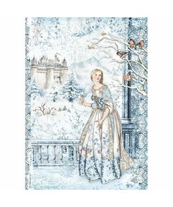 Stamperia rice paper A4 Fairy in the Snow