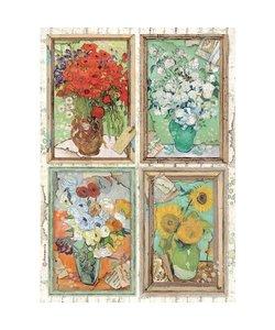 Stamperia rice paper A4 Atelier des arts Van Gogh