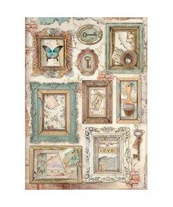Stamperia rice paper A4 Atelier des arts Frames