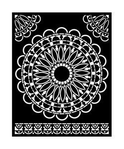 Stamperia Thick Stencil 20x25cm Atelier Round Lace