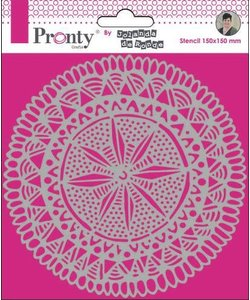 Pronty Stencil Jolanda de Ronde Mandala Circle Tribal 15x15cm