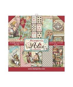 Stamperia Paper Pack 8x8'' Alice