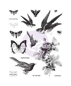 """Finnabair Cling stamp """"Wild and Free"""""""