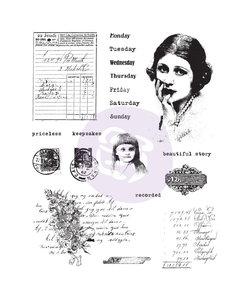 "Finnabair Cling stamp ""Beautiful story"""