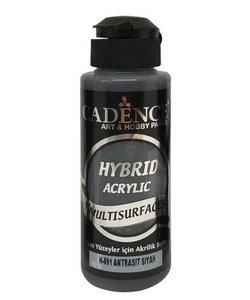 Cadence Hybrid Acrylverf Semi Mat 120ml Antraciet Zwart