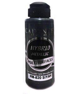 Cadence Hybrid Acrylverf Metallic 120ml Zwart