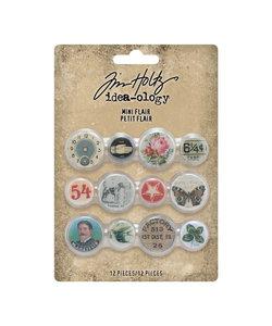 Tim Holtz Idea-Ology buttons Mini Flair 12 pcs
