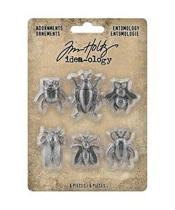 Tim Holtz Idea-Ology Adornments Entomology 6 pc