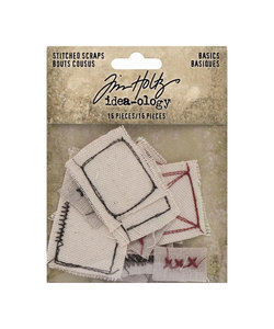 Tim Holtz Idea-Ology Stitched scraps Basic 16 pcs.