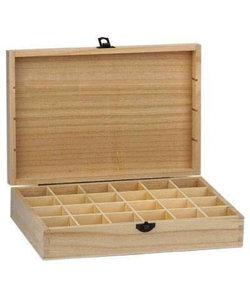 Houten vakkendoos 31,1x22x10,4 cm 24 vakjes (4,7x4,7cm.)