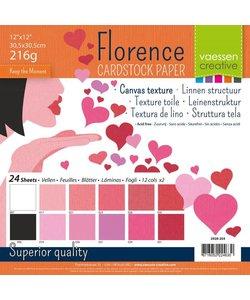 Florence Cardstock Texture pack Valentijn 12x12'' 216g