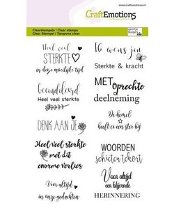CraftEmotions Stempel A6 Condoleance