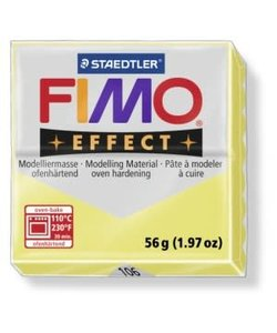 Fimo Effect Gemstone Boetseerklei 57g nr. 106 Lemon