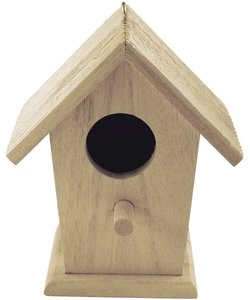 Rayher Houten Vogelhuisje 7,5x12x13cm