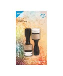 Joy Ink Blending Tool Mini Round 2st met 4 Foampads