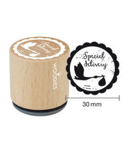 Houten stempel Special Delivery