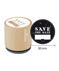 Houten stempel Save The Date