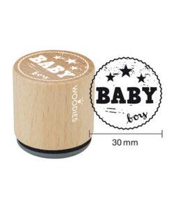 Houten stempel Baby boy