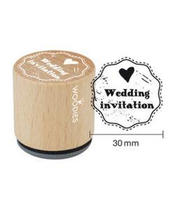 Houten stempel Wedding invitation