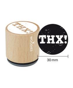 Houten stempel THX!
