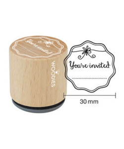 Houten stempel You're invited