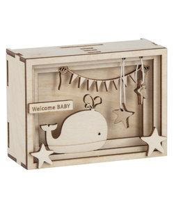 """Houten 3D Geschenkbox """"Baby"""" 11,5x8,5x5cm"""