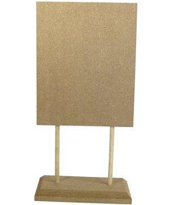MDF Deco plaat/menubord op voet 16x34.5x1.2 cm.