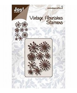Joy stencil Vintage flourishes meeldraden