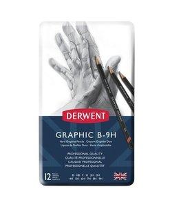 Derwent Graphic Hard Pencils 12st B-9H