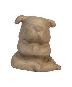 Decopatch Papier Mache Bulldog Yoga 15 cm