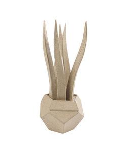 Decopath Papier Maché Cactus Vrouwentong 9x9x22 cm