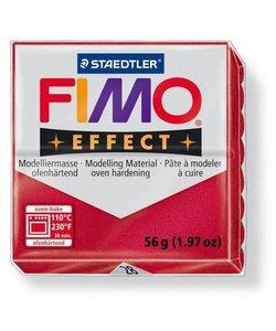 Fimo Effect Metallic Boetseerklei 57g nr. 28 Robijn Rood