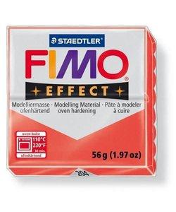 Fimo Effect Translucent Boetseerklei 57g nr. 204 Rood
