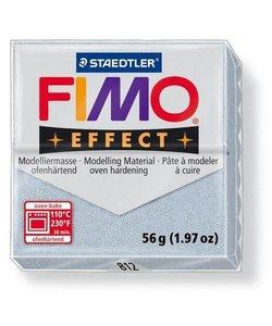Fimo Effect Glitter Boetseerklei 57g nr. 812 Zilver