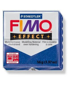 Fimo Effect Glitter Boetseerklei 57g nr. 302 Blauw