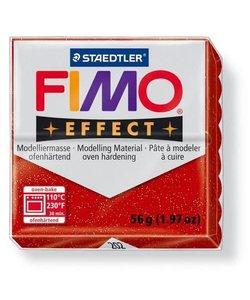 Fimo Effect Glitter Boetseerklei 57g nr. 202 Kersen Rood