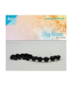 Joy Crafts Honden Neusjes Zwart 9x12mm 10st