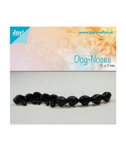 Joy Crafts Honden Neusjes Zwart 11x15mm 10st