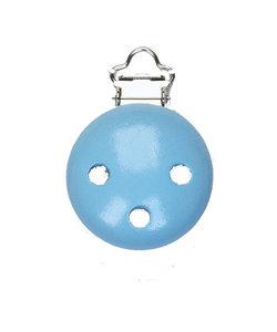 Houten Baby Speenclip 3,7cm Blauw