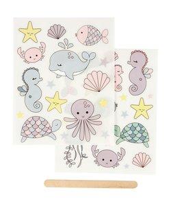 Rub-On Stickers Oceaan Zeedieren