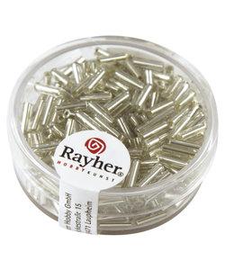 Glasstiften 7/2 mm zilverkern zilver 15g