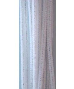 Chenille draad 6mm x 30 cm 20 stuks wit