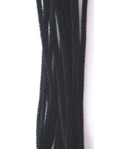 Chenille draad 6mm x 30 cm 20 stuks zwart