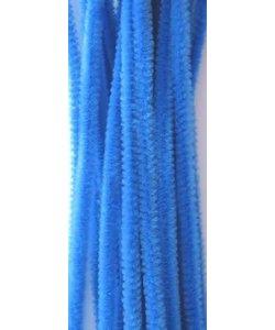 Chenille draad 6mm x 30 cm 20 stuks blauw
