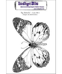 Indigo Blu rubber stamp Big Butterfly