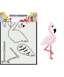 Dutch Doobadoo Snij Stencil A5 Built Up Flamingo