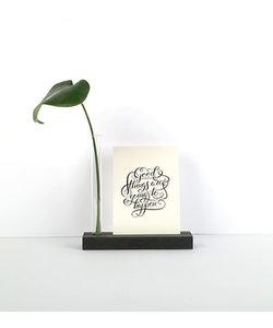 By Woom MDF Cardholder With Vase 4x16x16,5cm Zwart